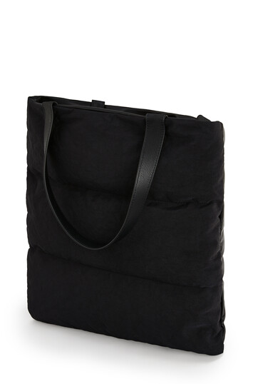 LOEWE Bolso Vertical Tote Puffy Negro front