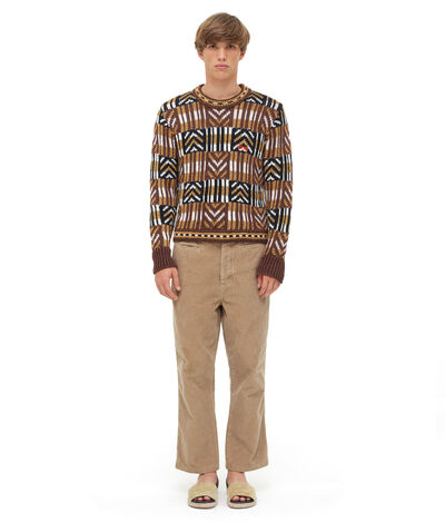LOEWE Graphic Sweater Black/White/Brown front