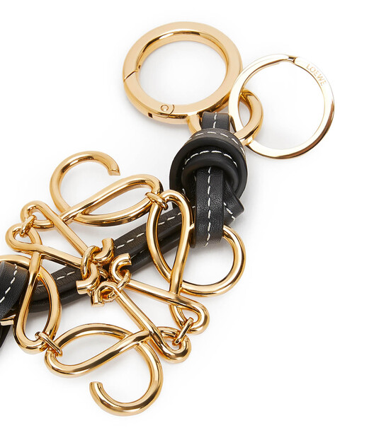LOEWE Metallic Monogram Charm Gold front
