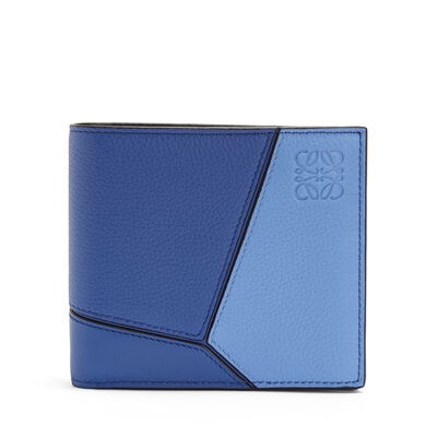 LOEWE Puzzle Bifold Wallet Pacific Blue/Seaside Blue front