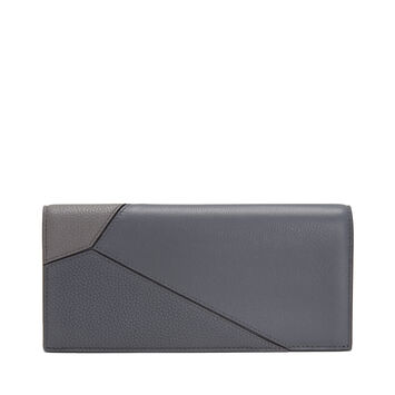 LOEWE Puzzle Long Horizontal Wallet Grey Multitone front