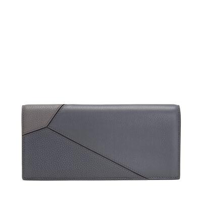 LOEWE Puzzle Long Horizontal Wallet Grey Multitone front