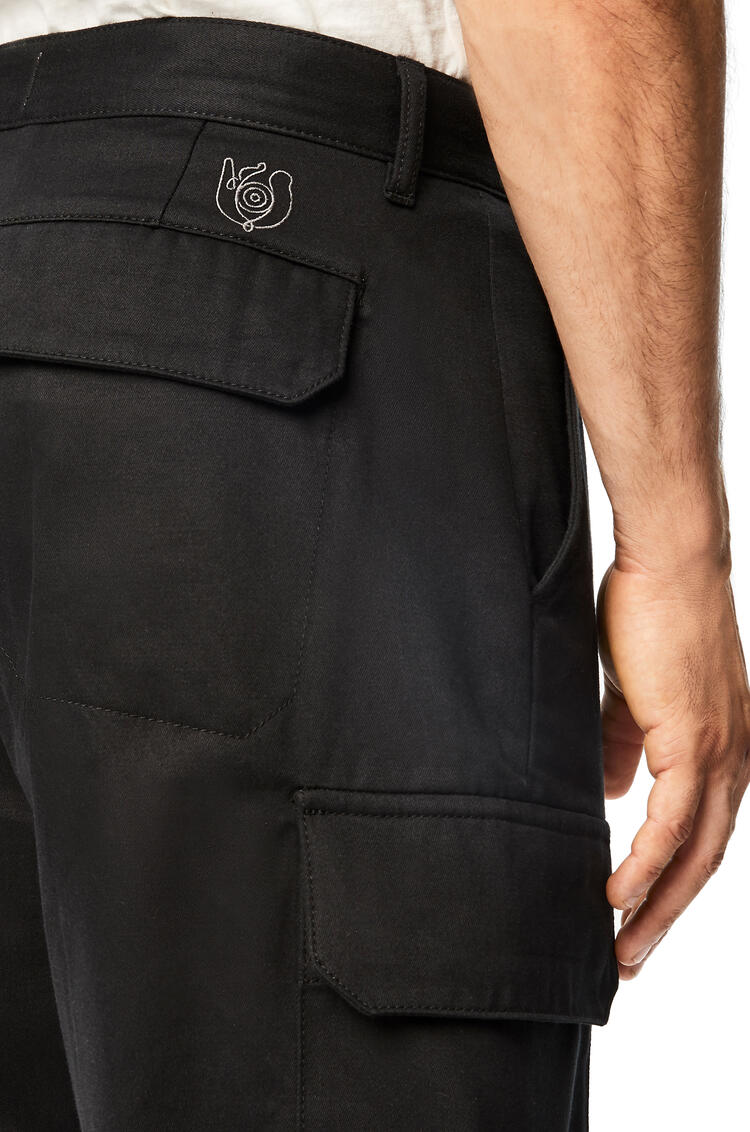 LOEWE Shorts In Cotton Black pdp_rd