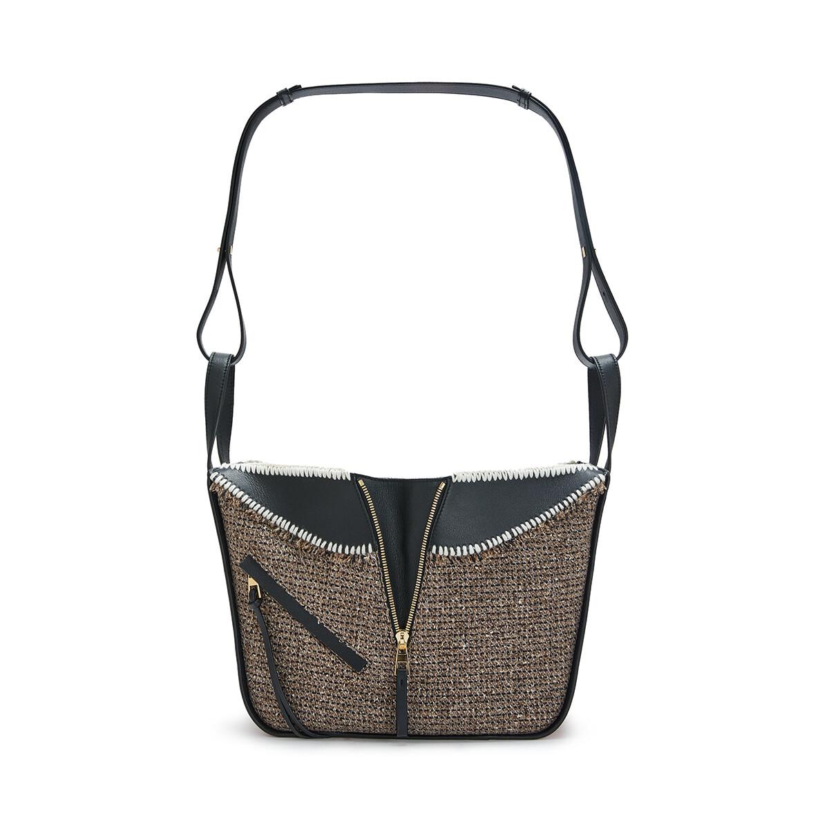 LOEWE Hammock Tweed Small Bag Tan front