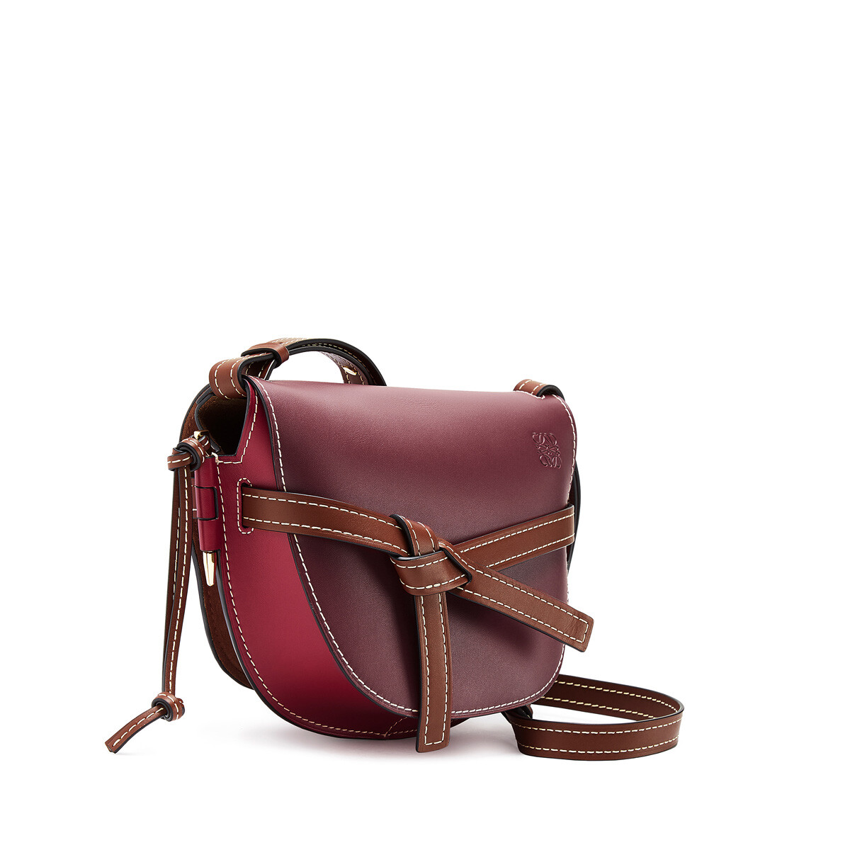 LOEWE Gate Small Bag Wine/Raspberry front