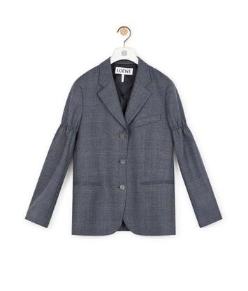 LOEWE Jacket Prince Of Wales グレー front
