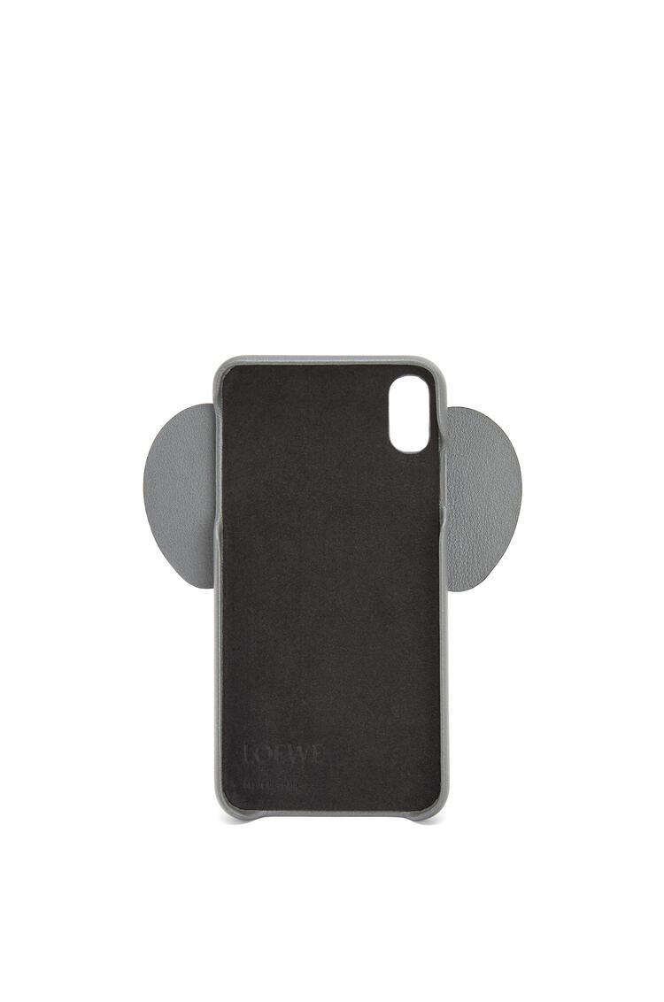 LOEWE iPhone XS Max用 エレファント カバー(パーライズド カーフスキン) ガンメタル pdp_rd