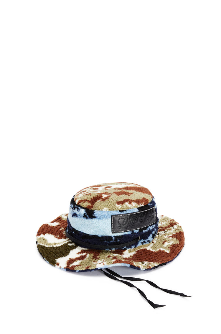 LOEWE Explorer hat in fleece textile Blue/Black pdp_rd