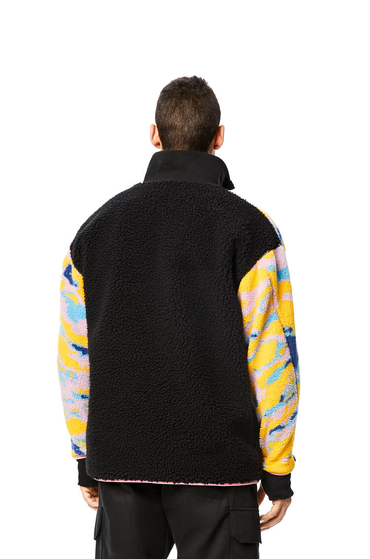 LOEWE Fleece zip sweater in cotton Multicolor/Black pdp_rd