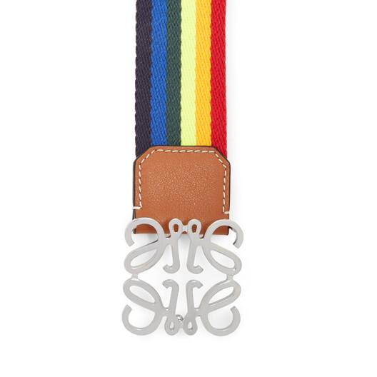 LOEWE Anagram Rainbow Belt 4Cm Multicolor/Tan front
