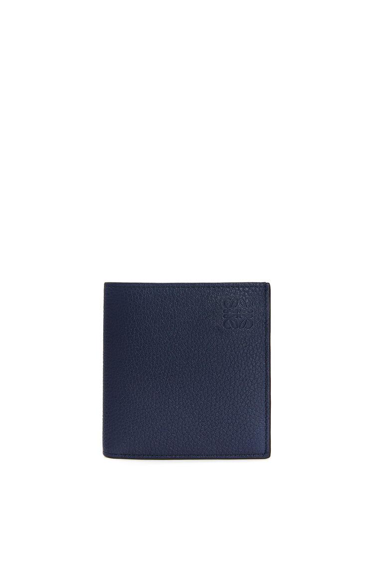 LOEWE Vertical Bifold wallet in grained calfskin Ocean pdp_rd