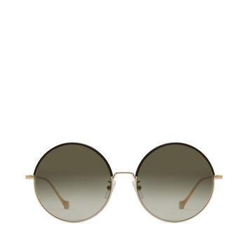 LOEWE Round Sunglasses Brown/Khaki Green front