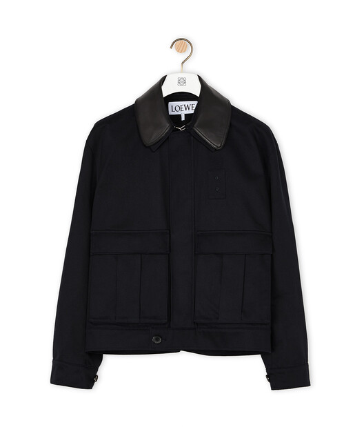 LOEWE Patch Pocket Jacket 海軍藍 front