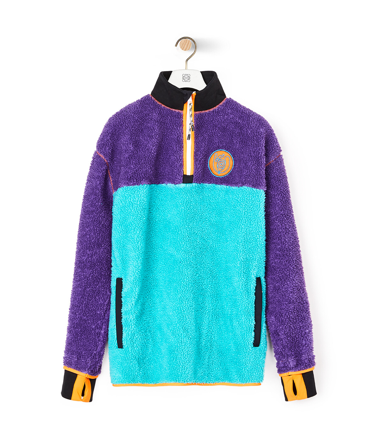 LOEWE Eln Fleece Zip Sweater 淺藍 front