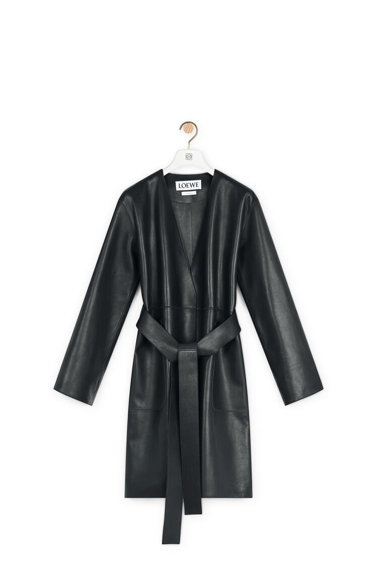 LOEWE Short coat in nappa Black pdp_rd