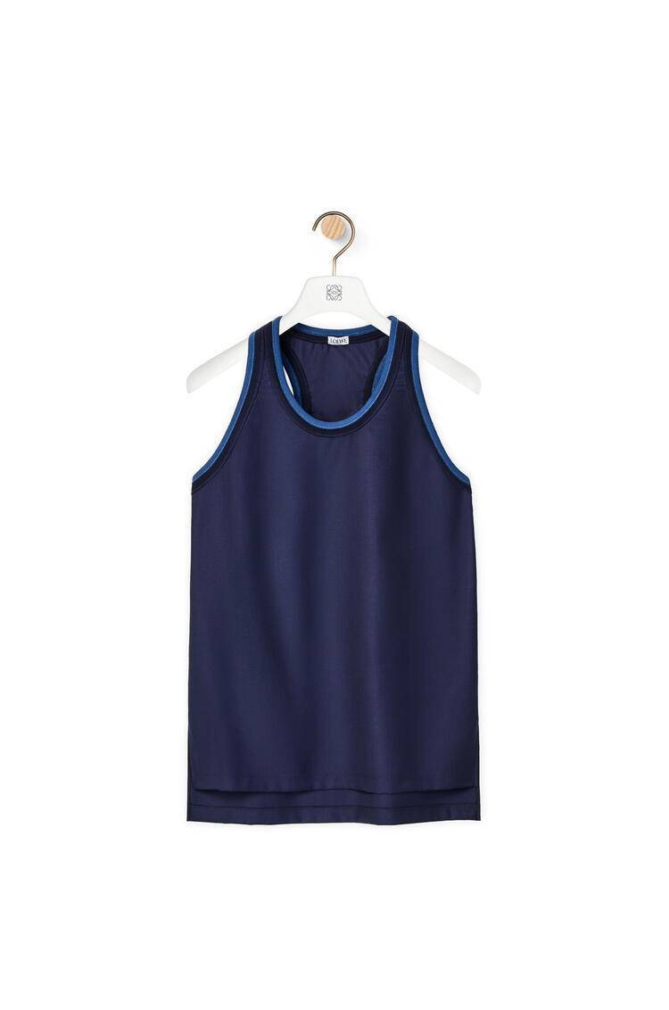 LOEWE Rib tank top in wool Dark Navy Blue pdp_rd