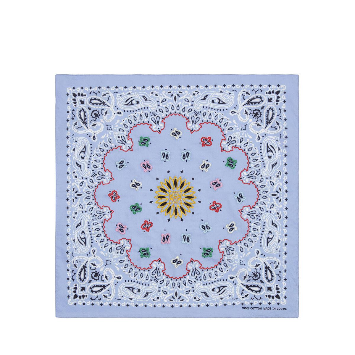LOEWE 50X50 Bandana Embroideries Azul all