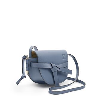 LOEWE Gate Mini Bag Steel Blue front