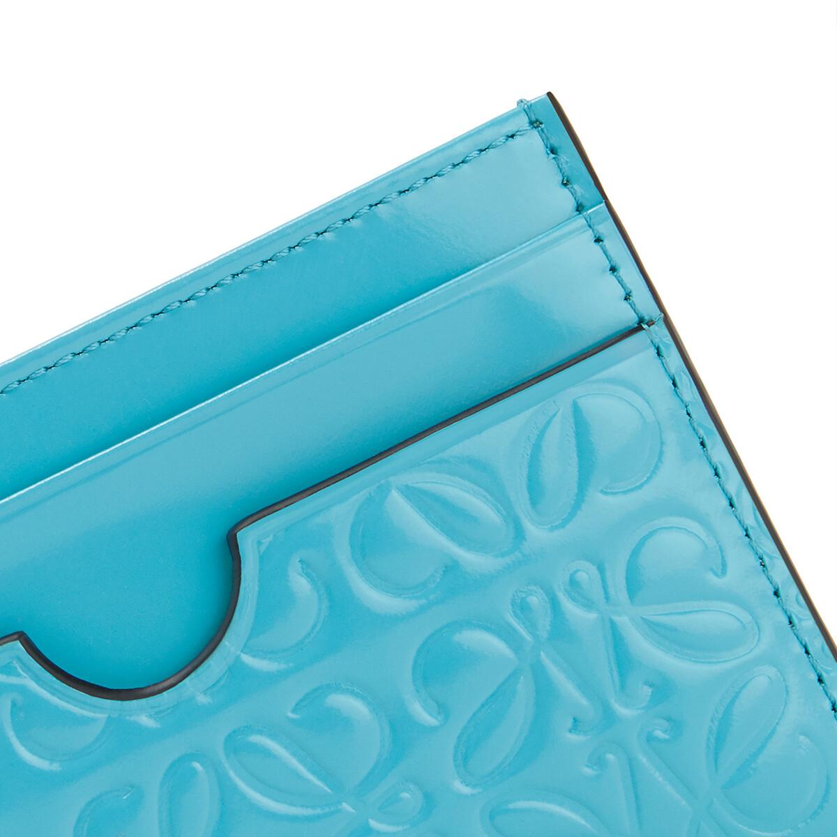 LOEWE Plain Cardholder Peacock Blue front