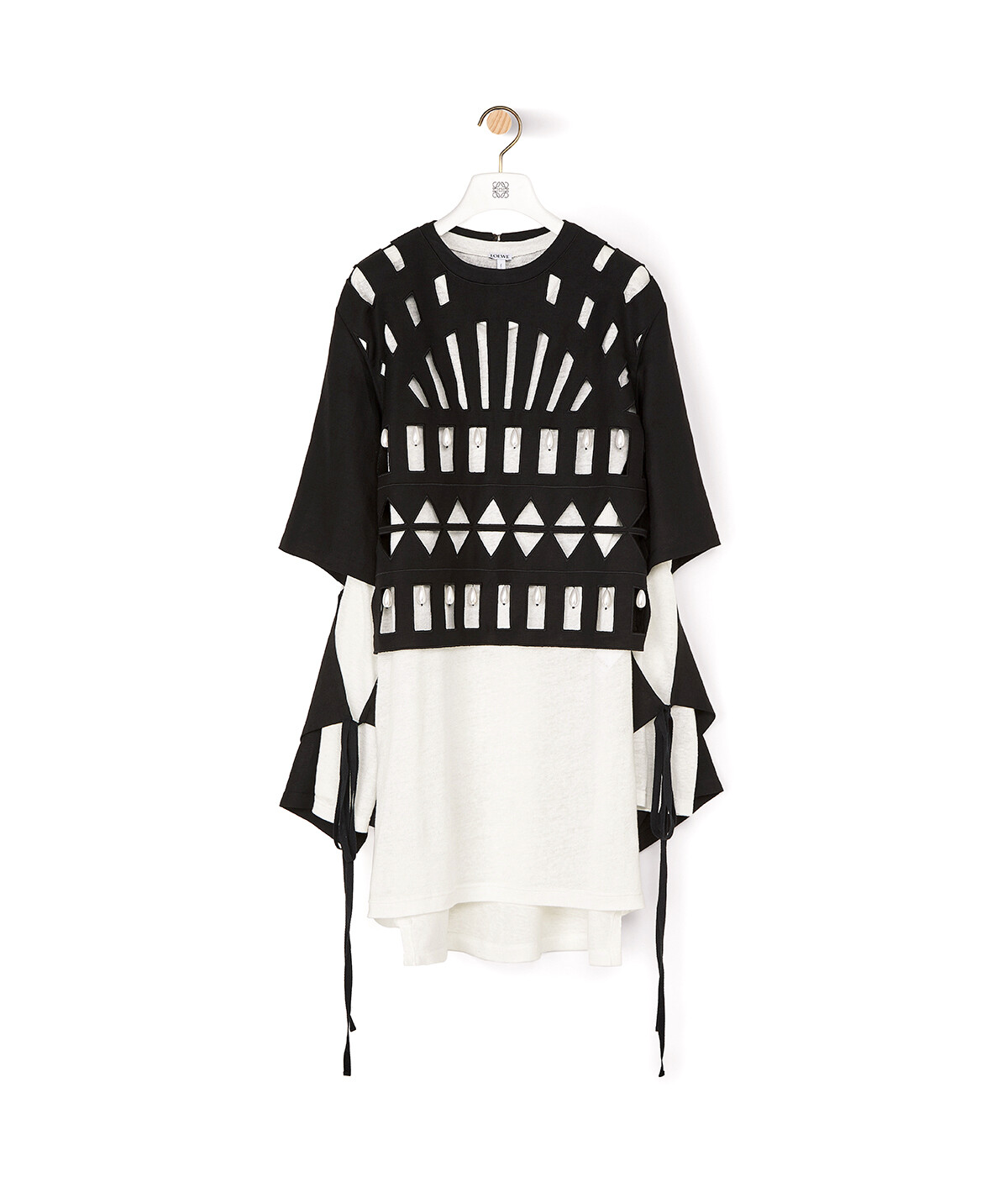 LOEWE Cut Out Top Black/White front