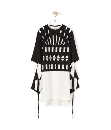 LOEWE Cut Out Top 黑色/白色 front