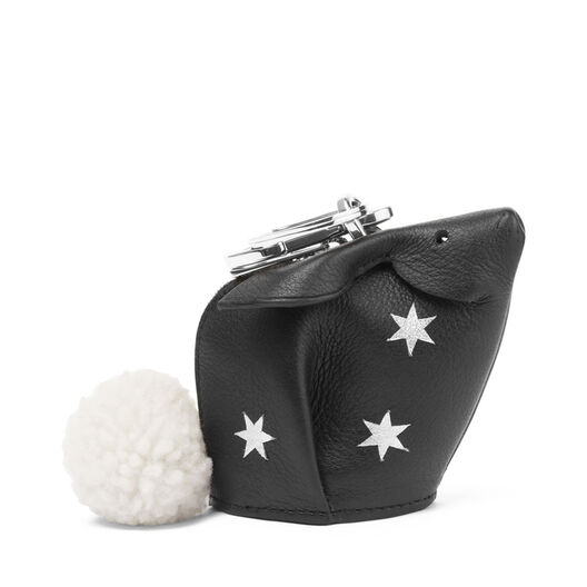 LOEWE Bunny Stars Charm Black/Silver front