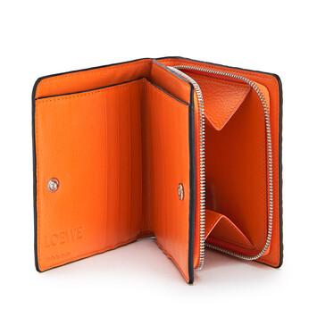 LOEWE Compact Zip Wallet Orange front