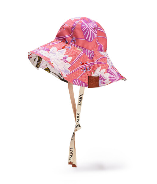 LOEWE Wide-Brim Hat In Waterlily Canvas  front