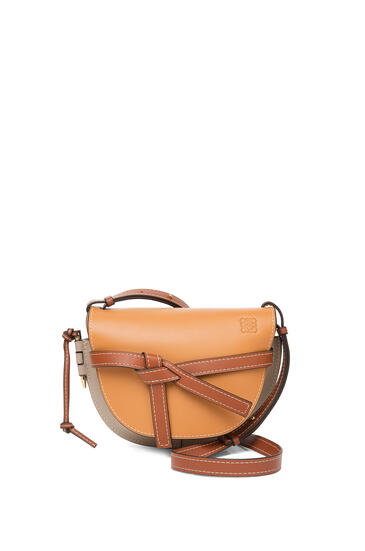 LOEWE 小号柔软牛皮革 Gate 手袋 Amber/Light Grey/Rust Colour pdp_rd
