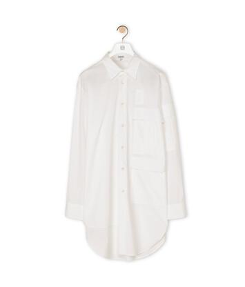 LOEWE Multipocket Shirt 白色 front
