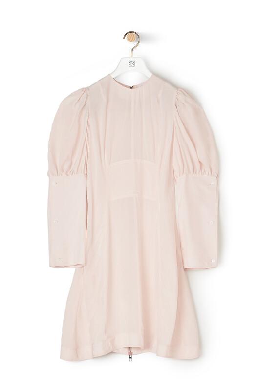 LOEWE Balloon Sleeve Dress Pink front