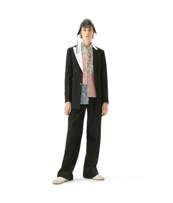 LOEWE 2Bt Tuxedo Jacket Negro/Blanco front