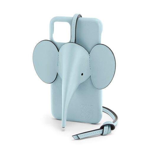 LOEWE Elephant Cover For Iphone 11 淺藍 front