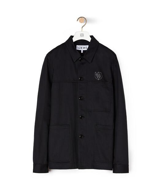LOEWE Eln Workwear Jacket Black front