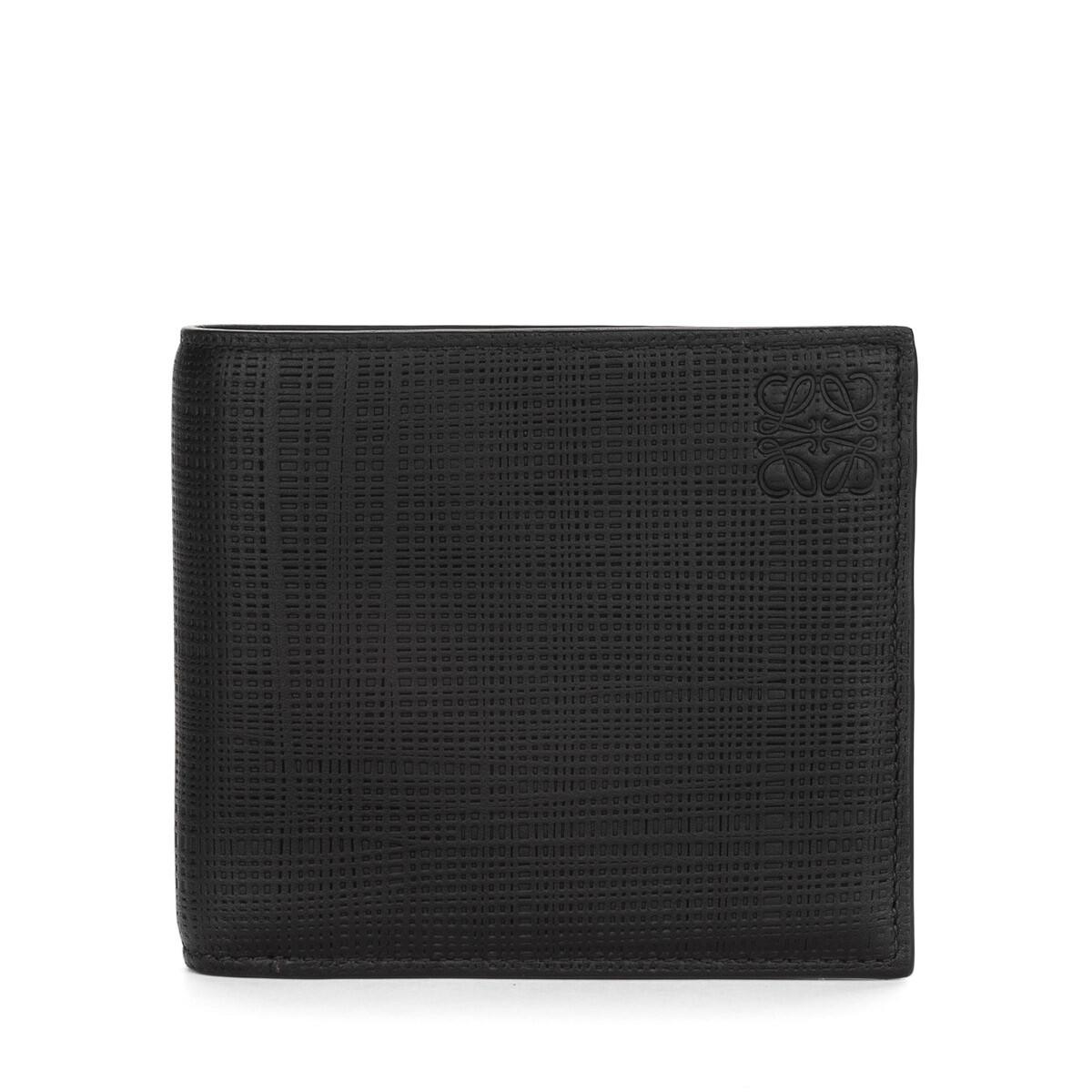 LOEWE Linen Bifold Coin Wallet Negro front