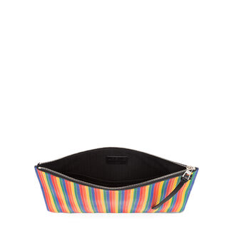 LOEWE Pouch Plana Mediano Rainbow Multicolor/Negro front