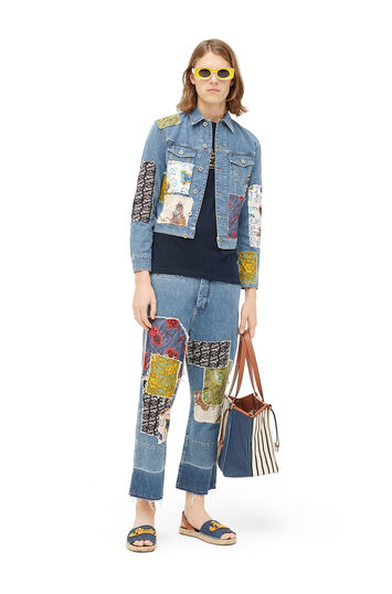 LOEWE Paula Patch Fisherman Jeans Indigo/Multicolor front