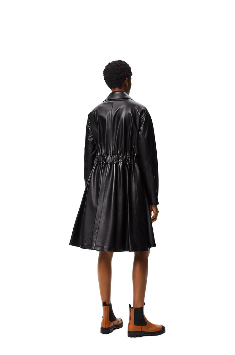LOEWE Elasticated belt coat in nappa Black pdp_rd