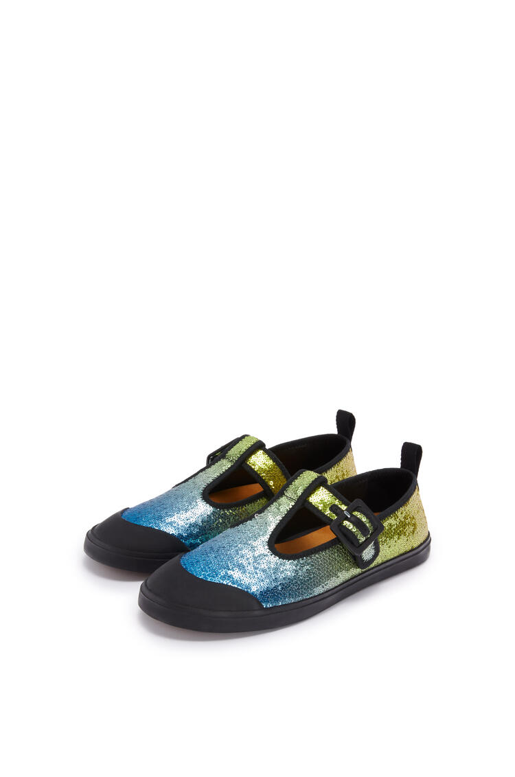 LOEWE Sequins babies in calf and polyester Blue/Multicolor pdp_rd
