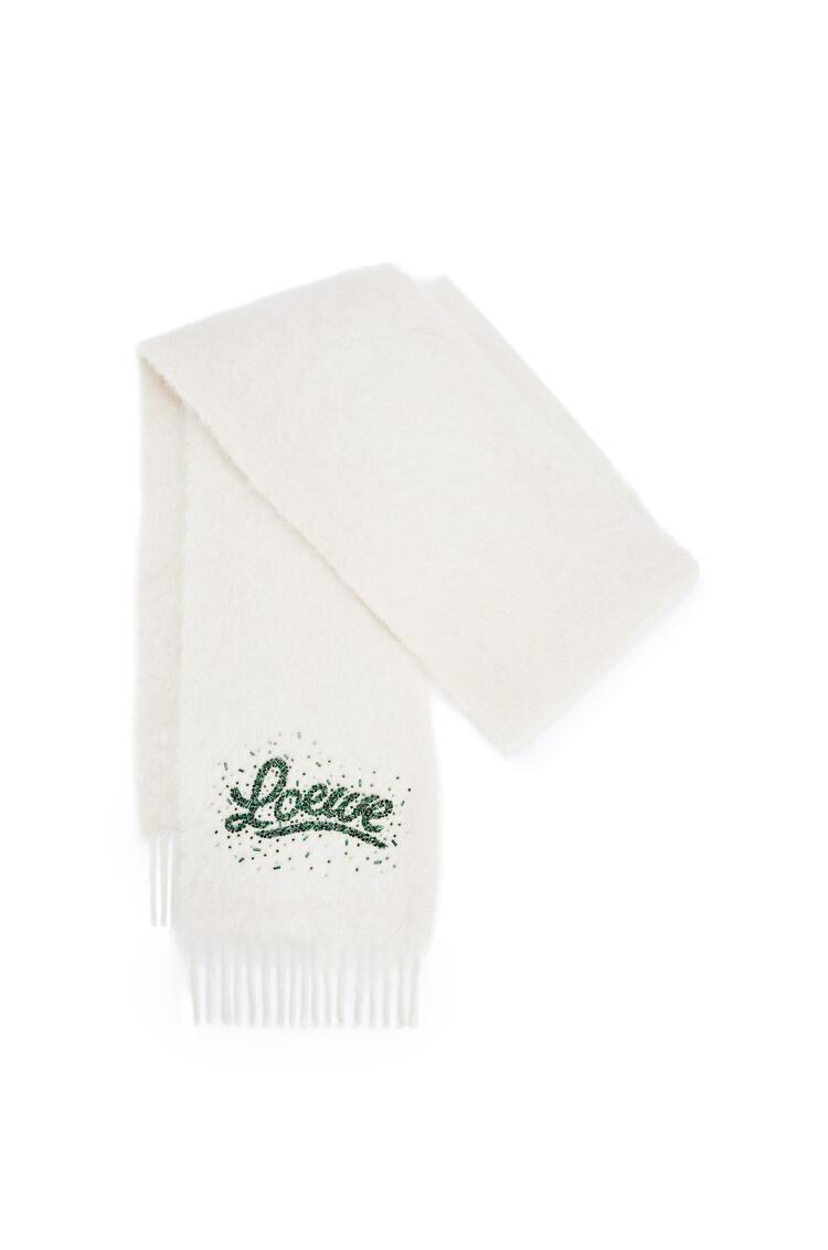 LOEWE Bufanda LOEWE en mohair y lana Blanco Suave pdp_rd