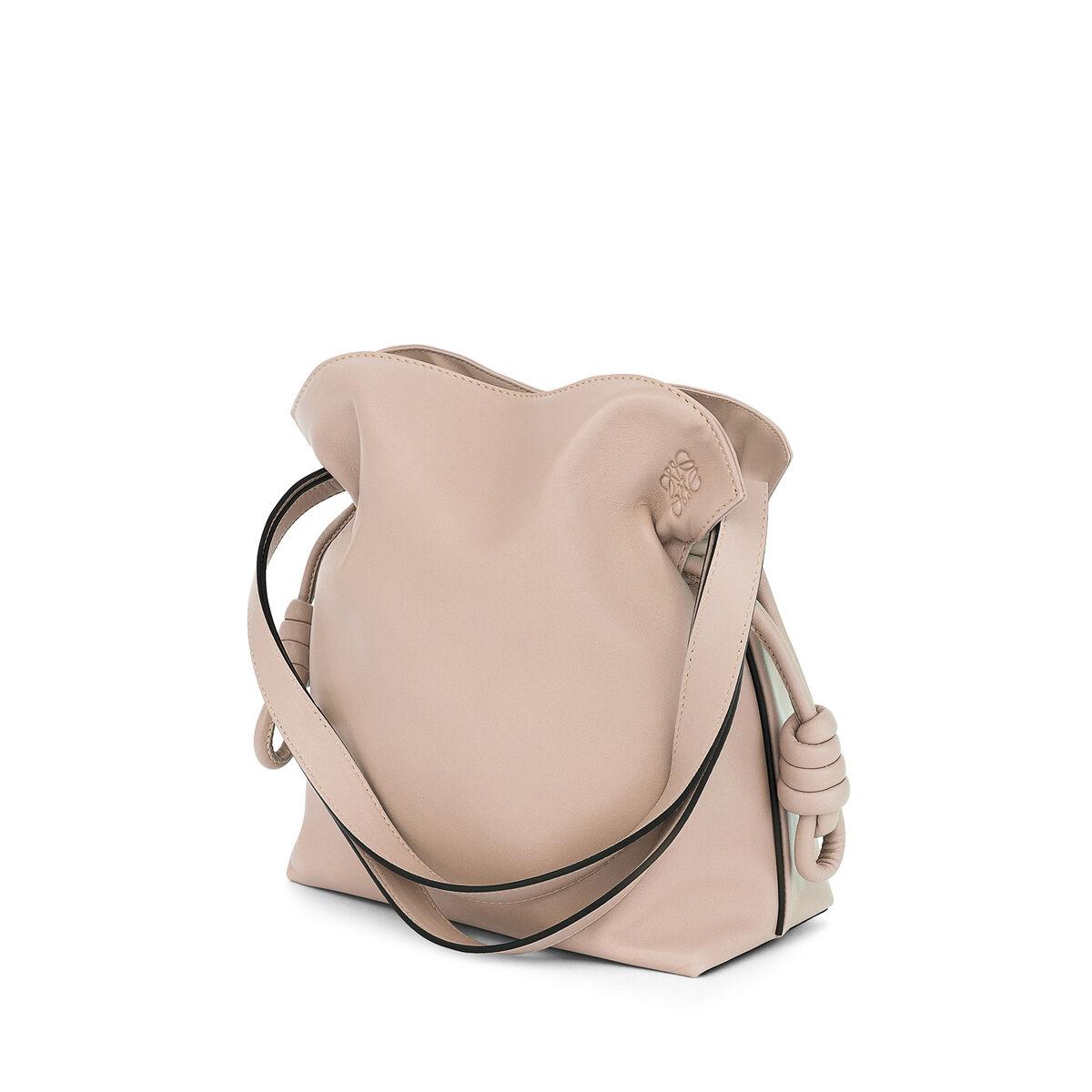 LOEWE Flamenco Knot Small Bag 粉末灰 all