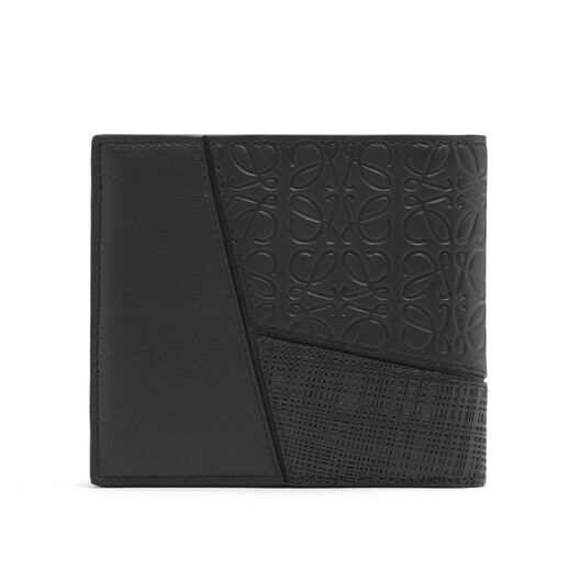 LOEWE Puzzle Bifold Coin Wallet Black front