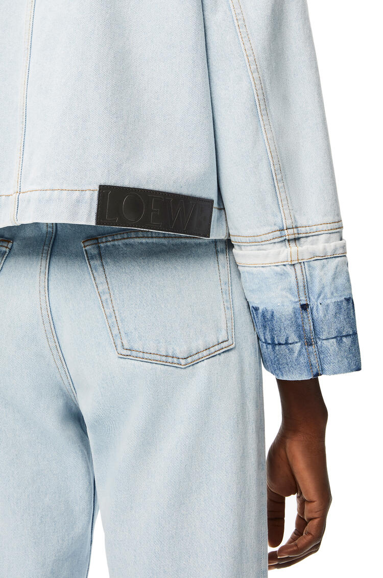 LOEWE Button jacket in denim Light Blue pdp_rd