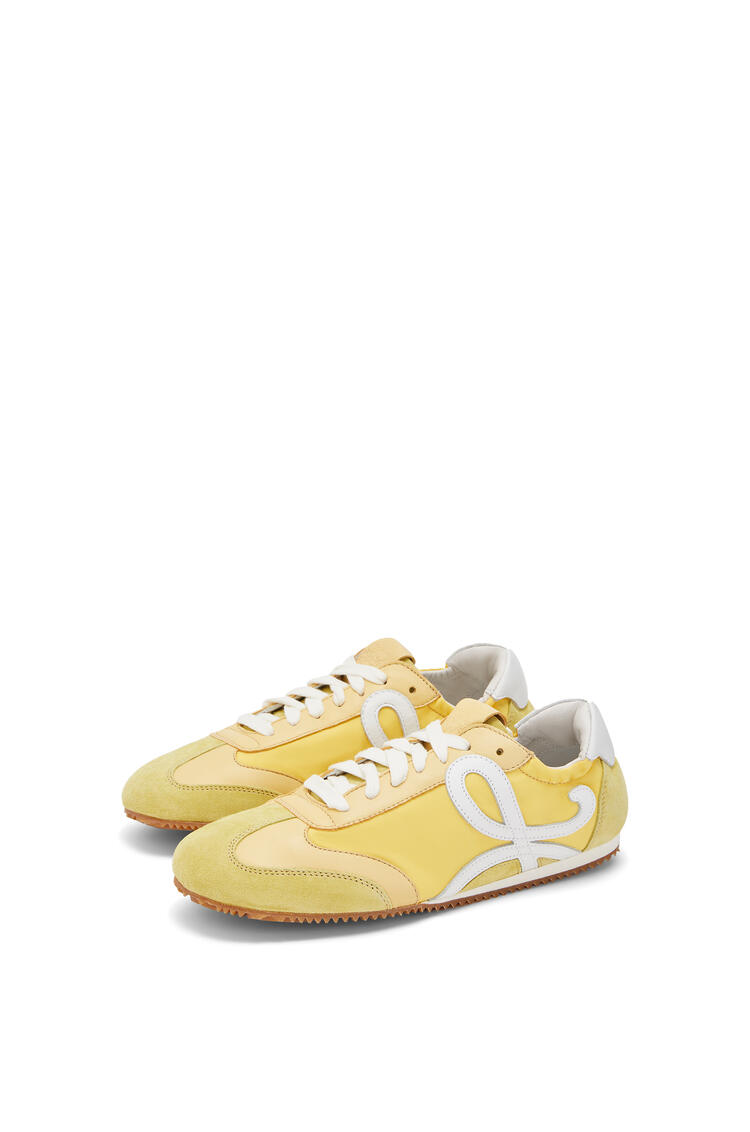 LOEWE Ballet runner in calfskin and nylon Light Yellow pdp_rd