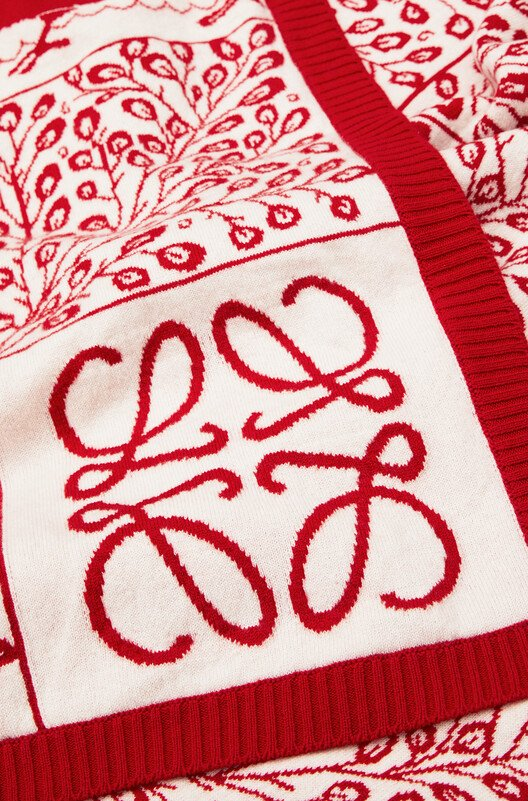 LOEWE 150X210 Knit Scarf Blanket レッド front