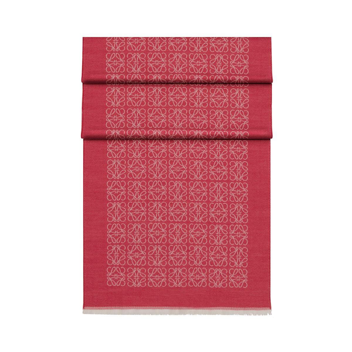 LOEWE 50X180 Bufanda Monogram Magenta front