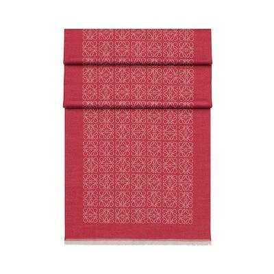 LOEWE 50X180 Scarf Monogram Magenta front