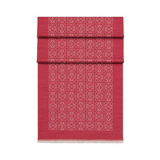 LOEWE 50X180 スカーフ モノグラム マジェンタ all