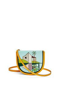 LOEWE Bolso La Palme Heel en piel de ternera Amarillo Mango/Multicolor pdp_rd