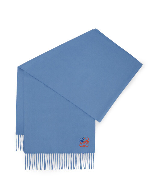 LOEWE 35X170 Anagram围巾 粉蓝色 front
